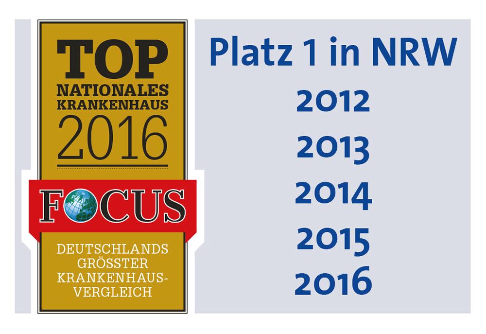 Das Universitätsklinikum Bonn auf Platz 1 in NRW zum vierten Mal in Folge + + + mehr:
