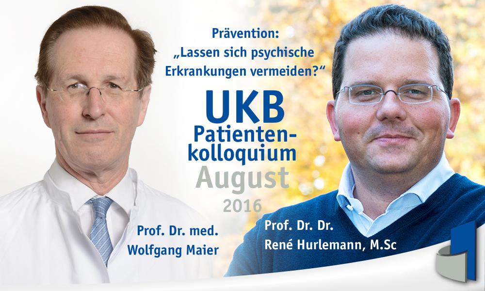 Patientenkolloquium des Uni-Klinikums Bonn rund um Prävention psychischer Erkrankungen