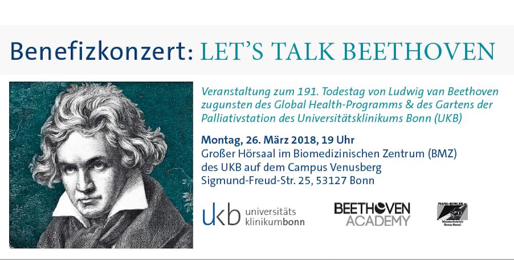 Einladung zum Benefizkonzert: LET'S TALK BEETHOVEN