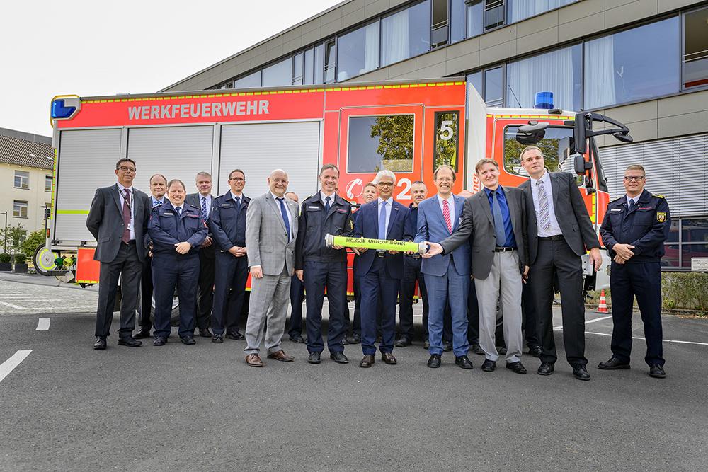 Universitätsklinikum Bonn und Bundesstadt besiegeln die Zusammenarbeit bei der Werkfeuerwehr