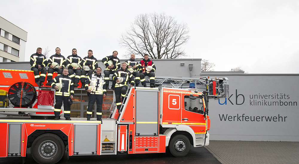 Werkfeuerwehr am Universitätsklinikum Bonn hat Vollbetrieb aufgenommen