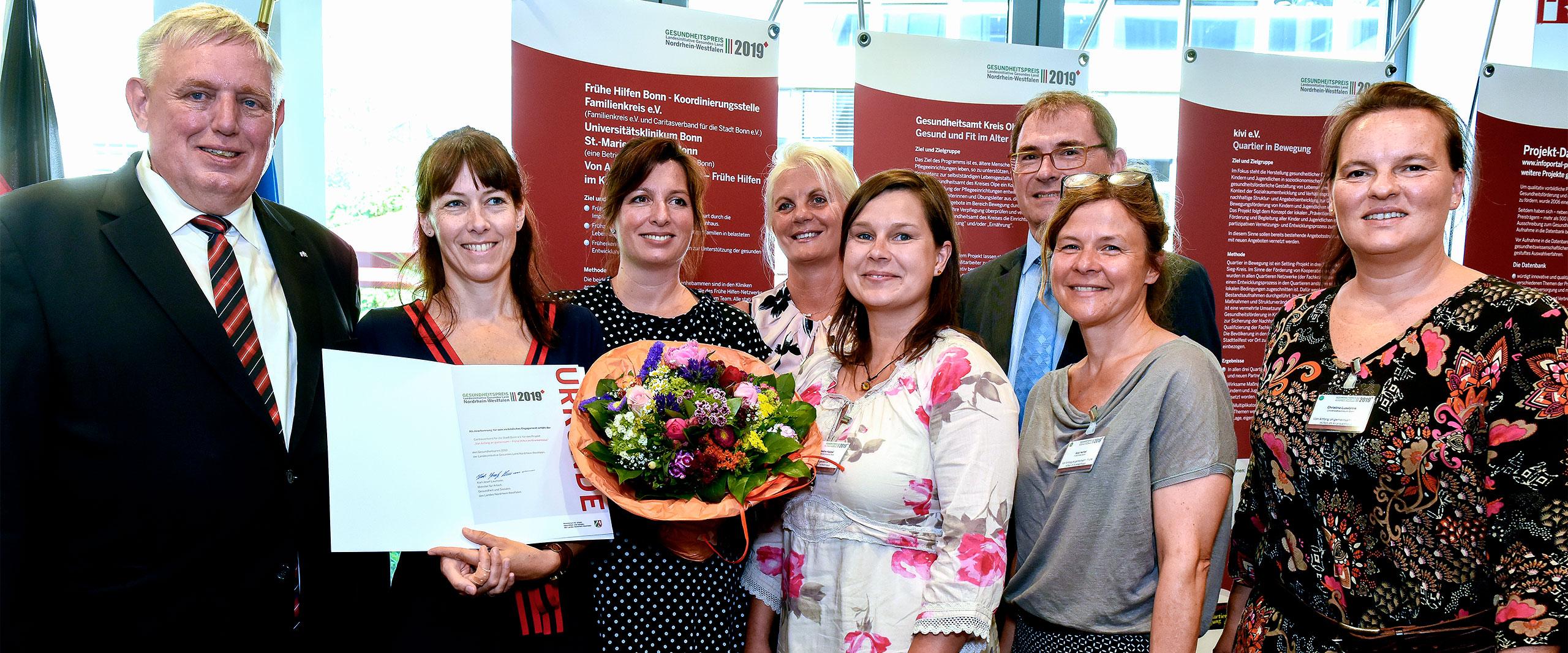 """NRW-Gesundheitspreis für Projekt """"Von Anfang an gemeinsam"""""""