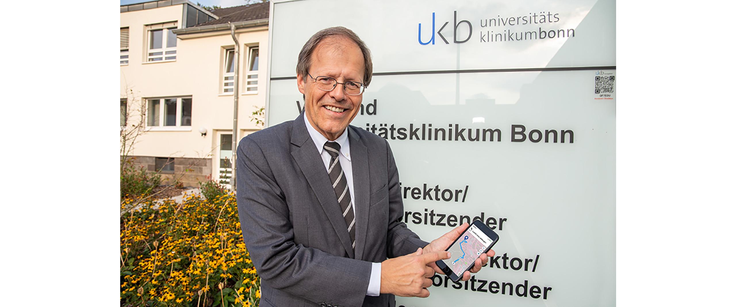 Neue Navigations-App am Universitätsklinikum Bonn erleichtert Orientierung für Patienten und Besucher